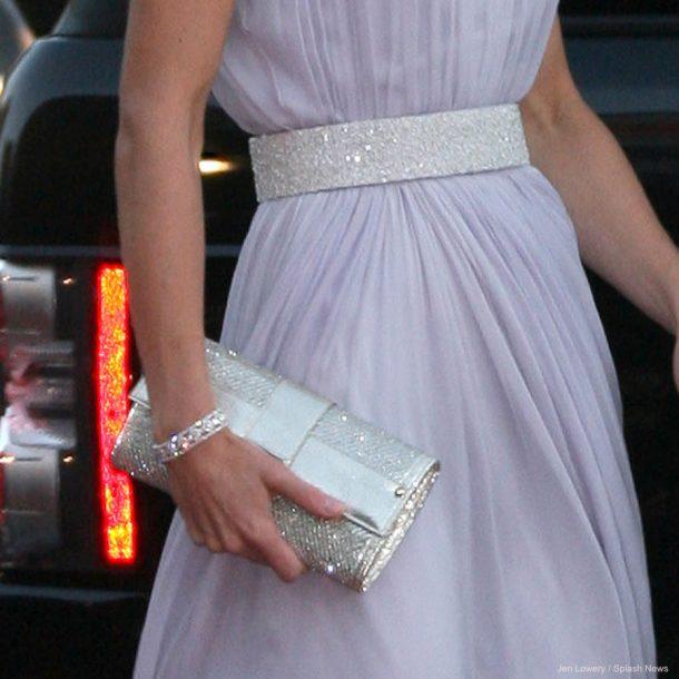 Kate Middleton's belt, clutch bag and bracelet at the BAFTA event in 2011