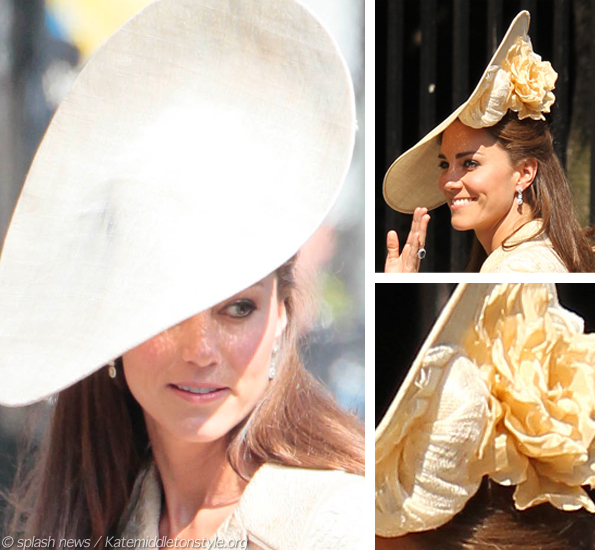 kate middleton gold hat