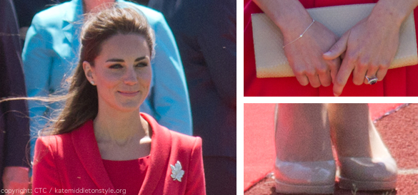 kate middleton red