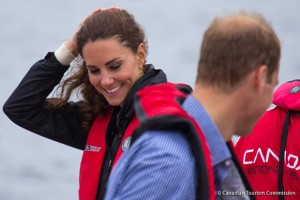 Nautical-coloured outfits for Kate visiting Prince Edward Island