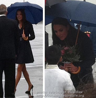 kate duchess of cambridge arrives in yellowknife, ca