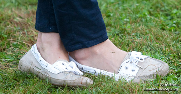 Kate wearing the Sebago Bala shoes