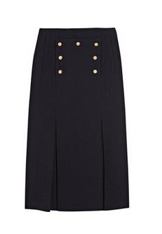 Alexander McQueen Embellished Wool Crepe Skirt