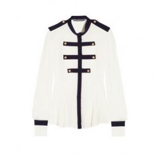 Alexander McQueen Silk-georgette blouse