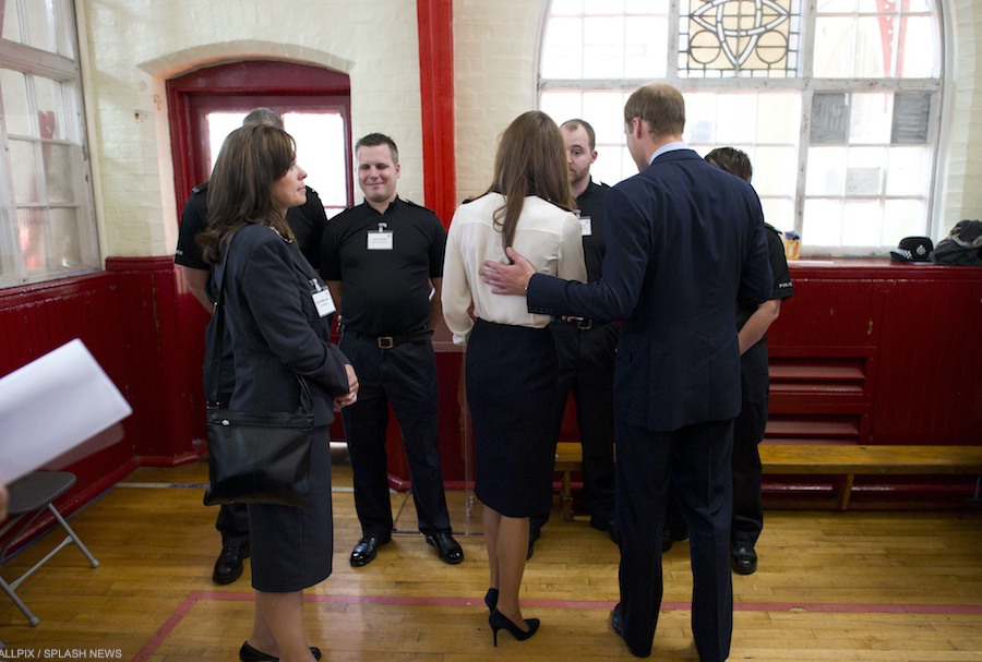 In 2011, William and Kate met people affected by rioting in Birmingham