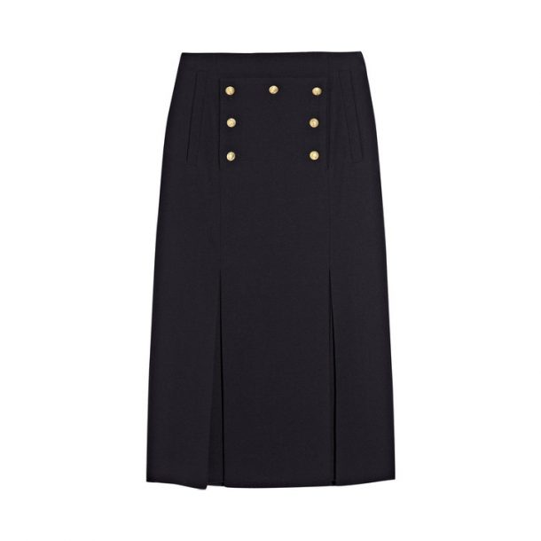 Kate Middleton's Alexander MCQueen Military Skirt in Navy Blue wool