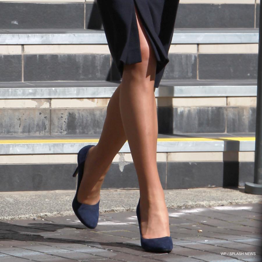 Alexander McQueen heels in blue suede