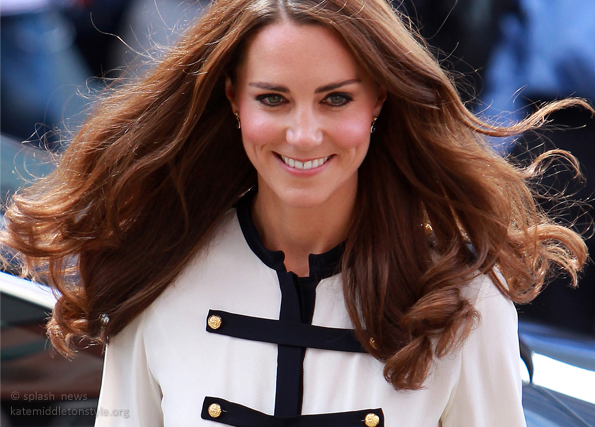 Kate visits Birmingham wearing McQueen Skirt & Blouse