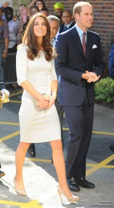Kate Middleton and Prince William arriving at The Royal Marsden, Surrey, UK.