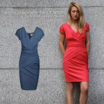 New Reiss Shola dress in red and blue