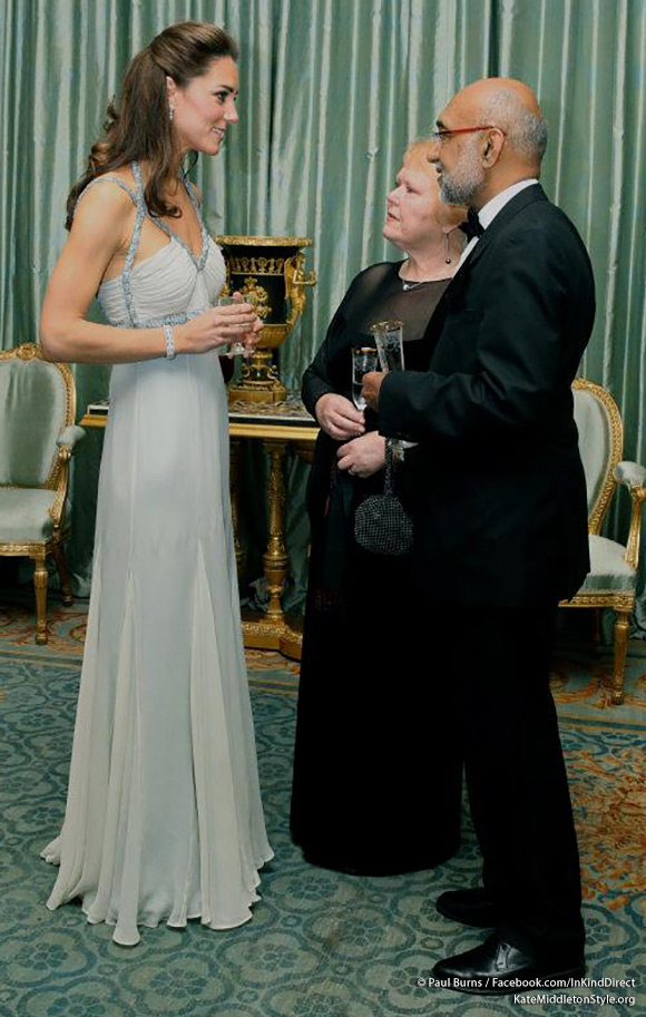 Kate looked stunning in an Amanda Wakeley dress
