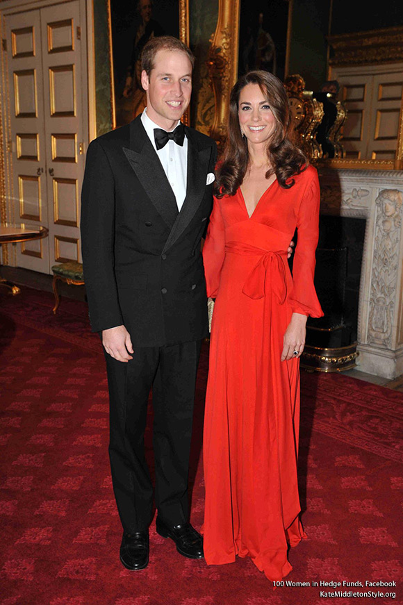 TRHs The Duke and Duchess of Cambridge at 100WHF 2011 London Gala at St James's Palace