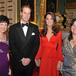 Kate wears red Beulah London dress for 100 Women in Hedge Funds Gala