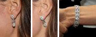 Kate's mystery diamond bracelet earring set.