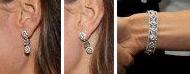Kate's mystery diamond bracelet earring set.