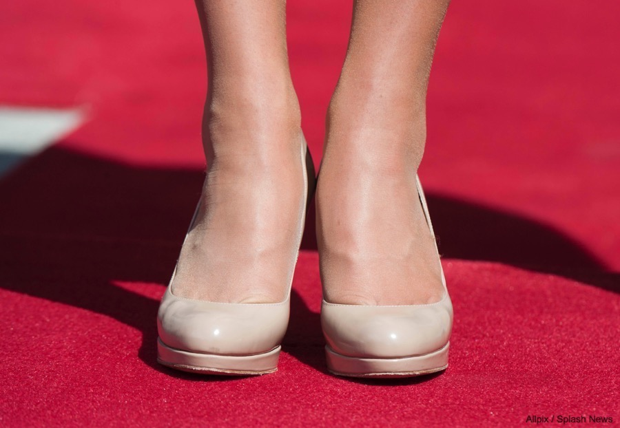 Kate Middleton wearing the LK Bennett Sledge in Nude