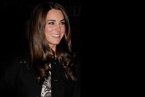 Kate in Zara dress & Ralph Lauren blazer for Gary Barlow charity gig
