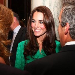 Kate wears Green Mulberry dress to Diamond Jubilee Press Reception