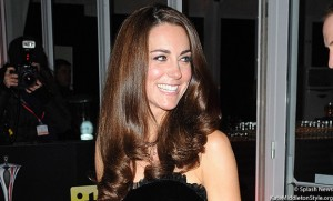 "Kate stuns crowds at the ""Millies"" wearing black velvet Alexander McQueen dress"