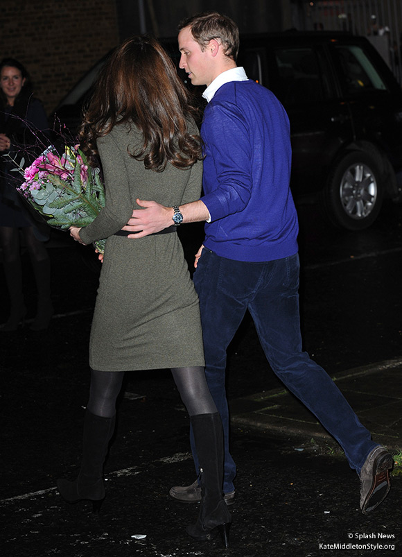 William and Kate leaving the Centrepoint event