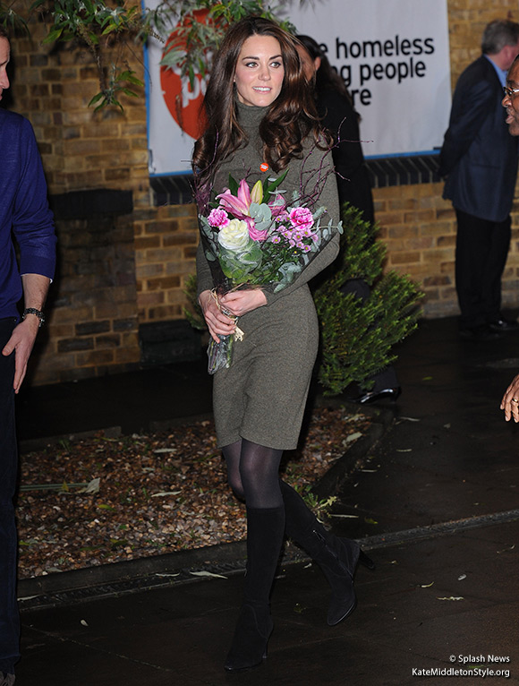 Kate visits Centrepoint wearing her Aquatalia Rhumba Boots