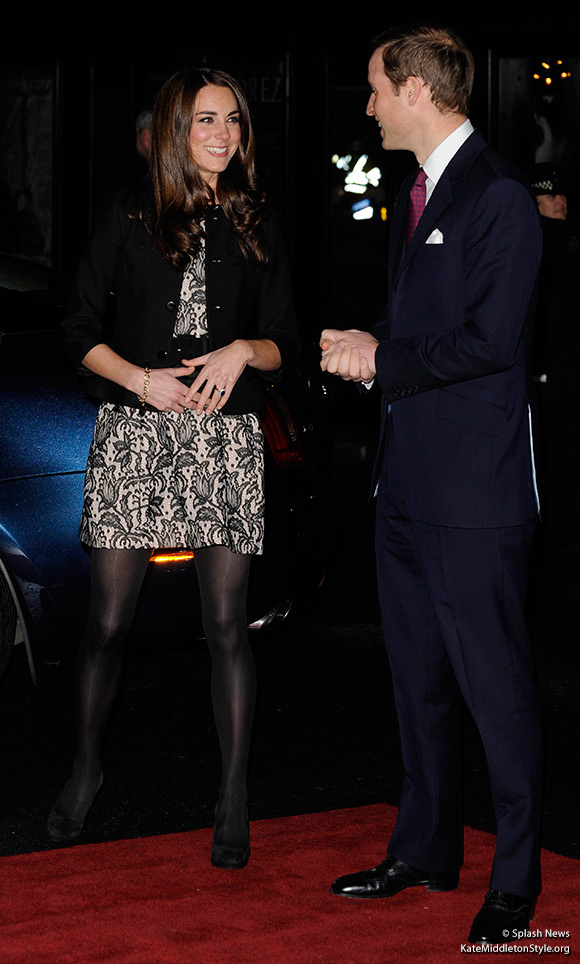Kate wears Zara Tulip Dress to Gary Barlow Concert