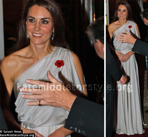 kate silver dress nma
