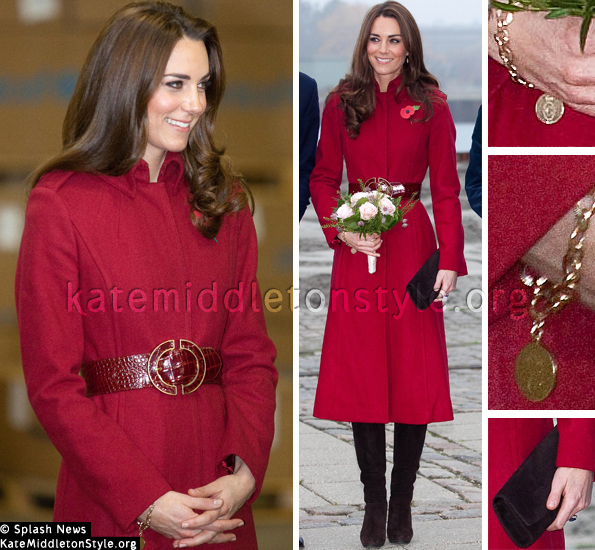 Kate Middleton Red Coat Denmark