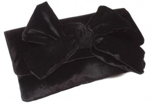 Pretty Ballerinas Velvet Bow Clutch