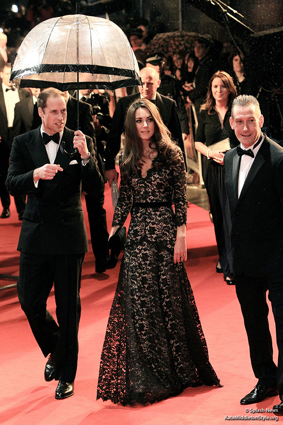 William and Catherine attend the War Horse premiere in London