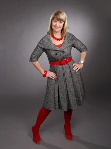 Ann wearing the Jesire Coat Dress, courtesy of Grazia
