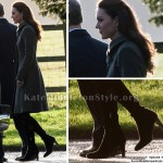 Kate Middleton grey coat christmas