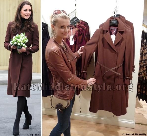 Kate middleton brown coat