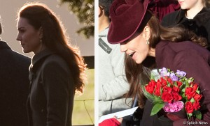 Kate spotted twice on Christmas Day 2011
