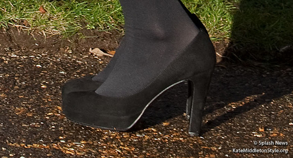 Kate's Mascaro Black Suede Pumps