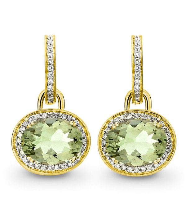 Kiki McDonough Green Amethyst Earrings.