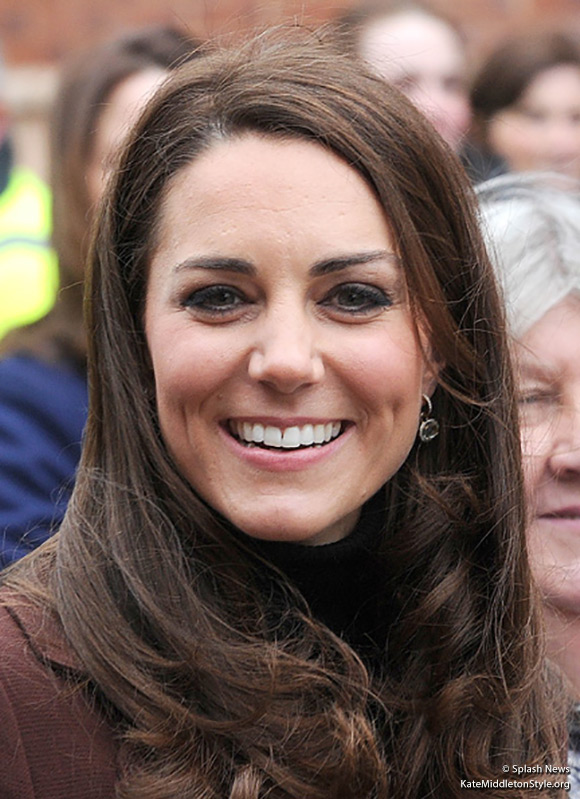 Kate wears Kiki McDonough earrings