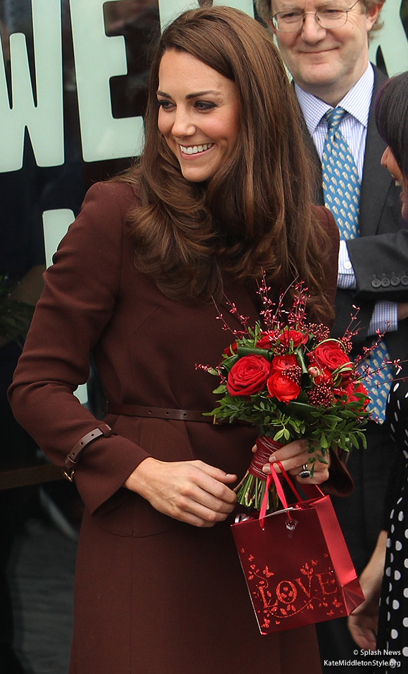 The Duchess of Cambridge visited Liverpool on Valentines Day 2012
