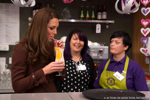 """Kate samples an alcohol-free cocktail at The Brink """"bar""""."""