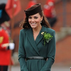 Kate in green coat dress by Emilia Wickstead for St. Patrick's Day