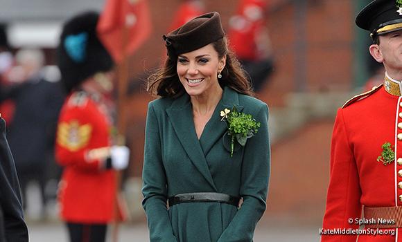 Duchess of Cambridge wears Emilia Wickstead coat dress to Irish Guard parade