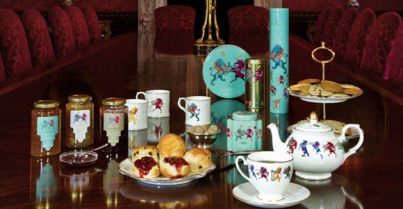 Jubilee commemorative china tea set at Fortnum and Mason.  Image  © Fortnum and Mason