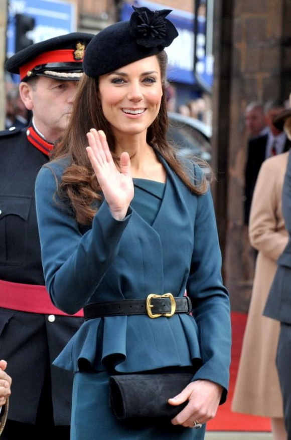 The Duchess of Cambridge at De Montfort University.  Photo via the University's Twitter account.