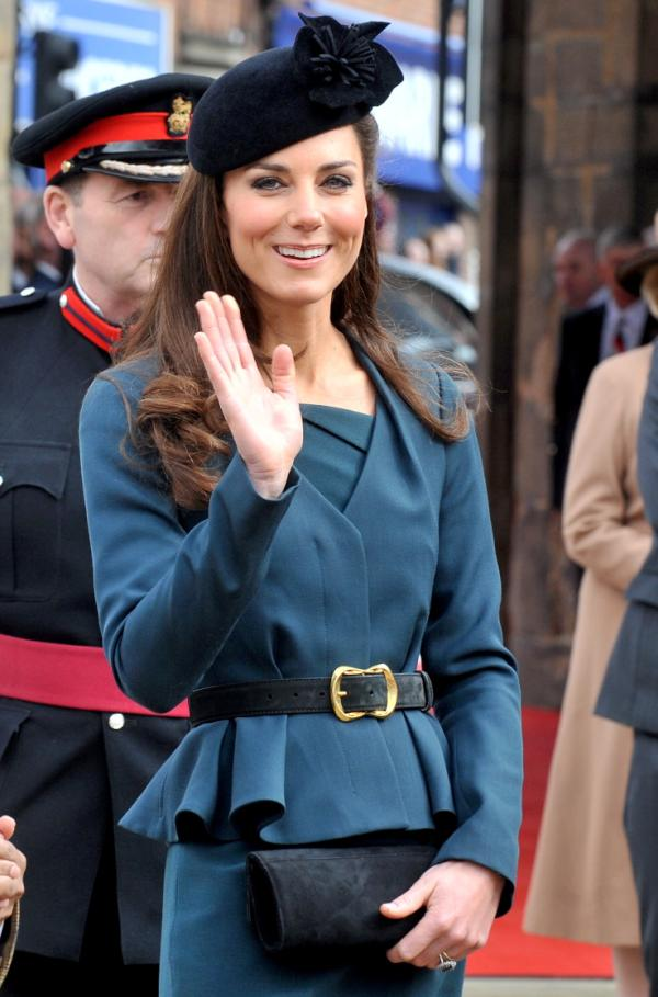 Kate Middleton wearing the L.K. Bennett Jude jacket in Leicester in 2012