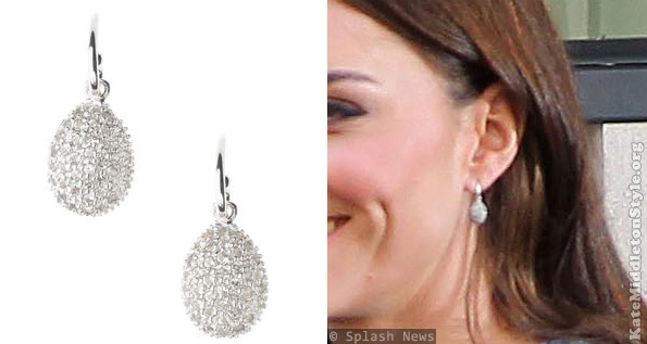 The Duchess of Cambridge wears Links of London Hope Egg earrings