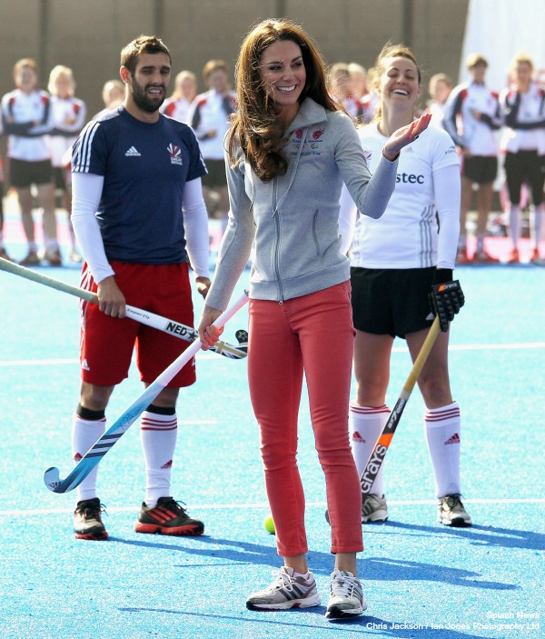 Kate Middleton plays hockey wearing Adidas sneakers