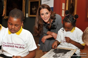Duchess Kate meets with some of the children the charity helps