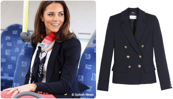 Kate Middleton in her Emilio Pucci blazer