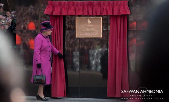 the queen plaque