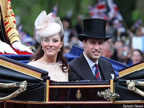 The Queen's Diamond Jubilee Ceremonial Day in London, UK. Pictured: Prince William The Duke of Cambridge and Catherine Duchess of Cambridge Ref: SPL401502 050612 Picture by: James Whatling / Splash News Splash News and Pictures Los Angeles: 310-821-2666 New York: 212-619-2666 London: 870-934-2666 photodesk@splashnews.com
